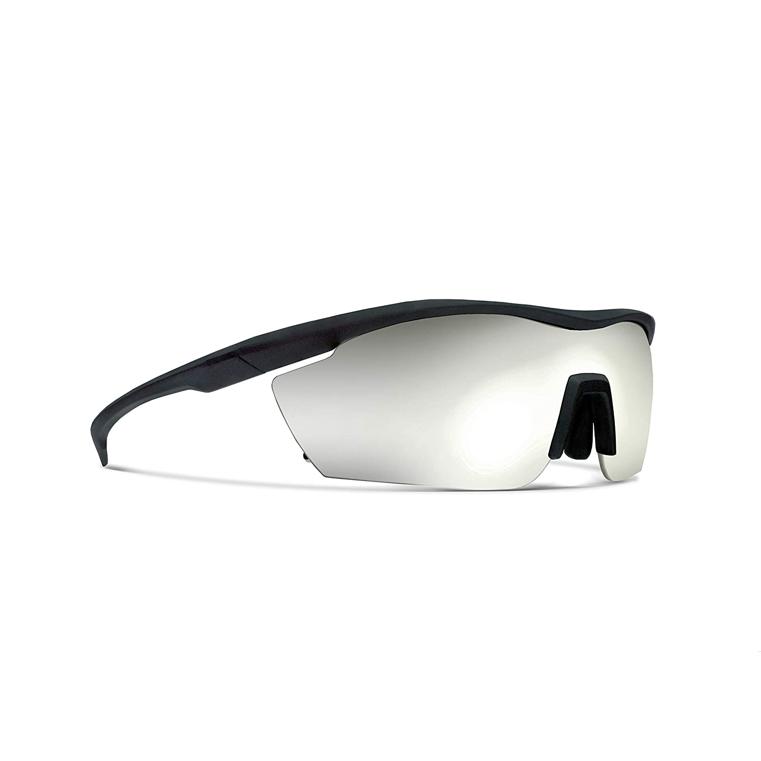 Siraya Gamma Matt Black Road Cycling//Fishing Sunglasses with ZEISS P7020M Super Silver Mirrored Lenses