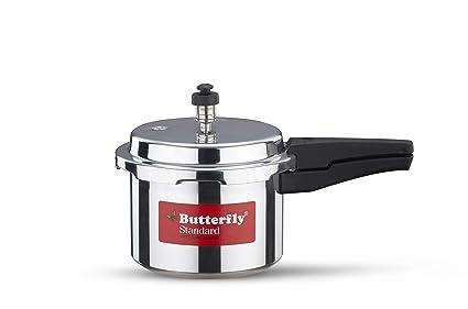 Butterfly Standard Aluminium Pressure Cooker, 5 Litre