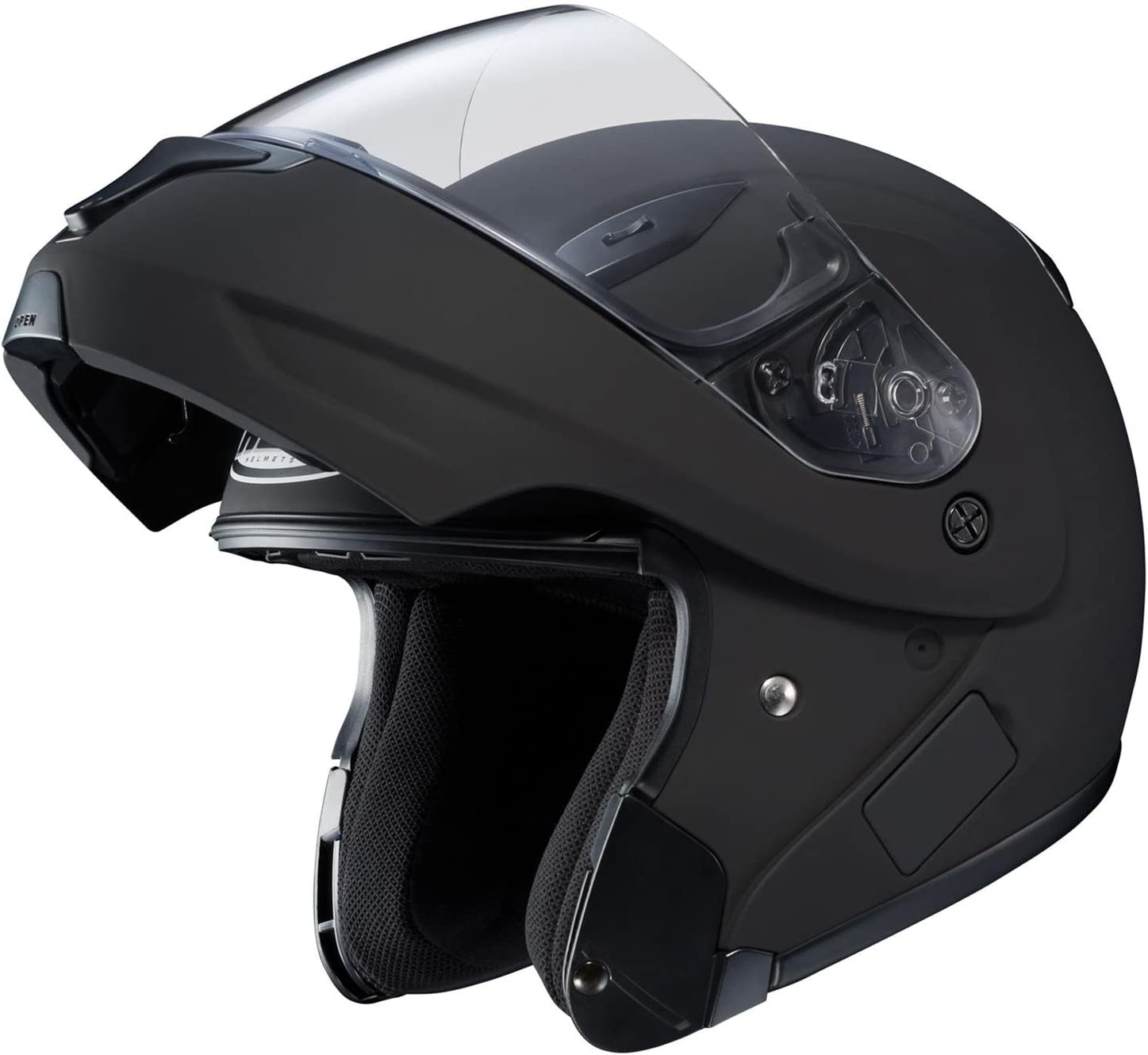 Black, Medium HJC CL-MAX2BTSN Solid Modular Bluetooth Snow Helmet Framed Dual Lens Shield