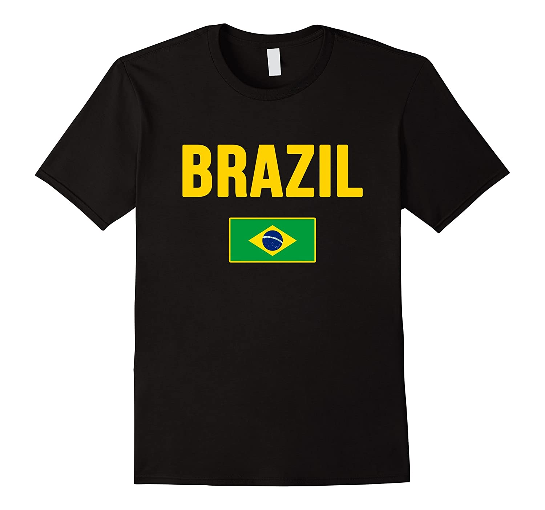 BRAZIL T-shirt Brazilian Flag Brasilian Tee Camiseta Brasil-TD