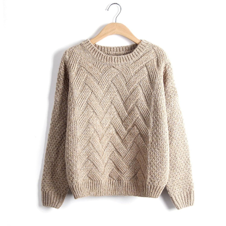YINHAN Women's Sweaters Hemp Pullovers Casual