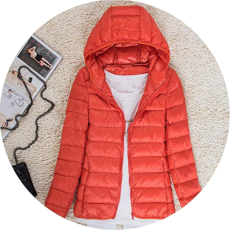 Women Winter Down Coats Female Ultra Light White Duck Down Jackets Thin Jacket