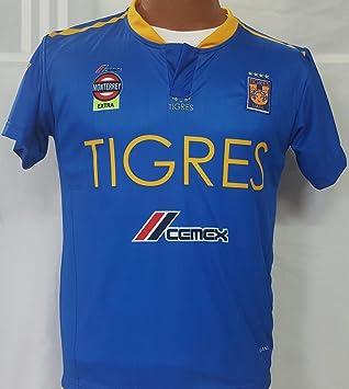 Nueva tigres de distancia azul y amarillo réplica de la camiseta adulto mediano