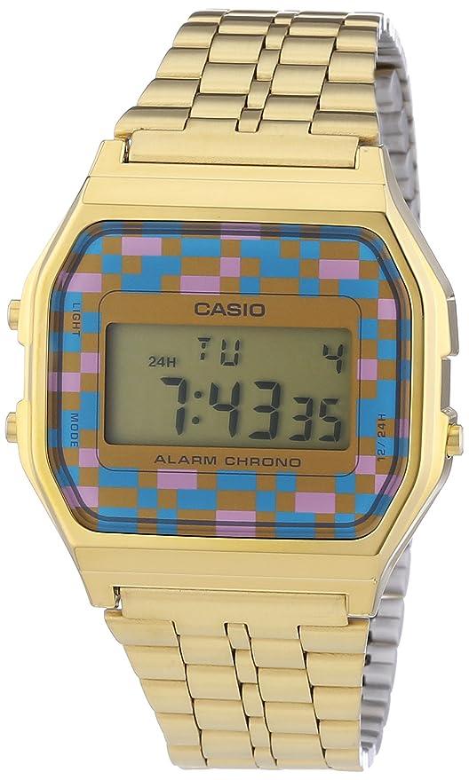 CASIO A159WGEA-4AEF - Reloj Digital de Cuarzo con Correa de Acero Inoxidable para Hombre