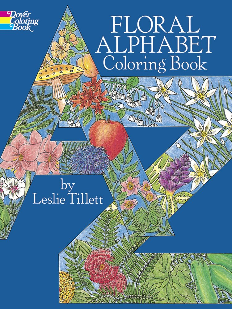 Floral Alphabet Coloring Book (Dover Design Coloring Books ...