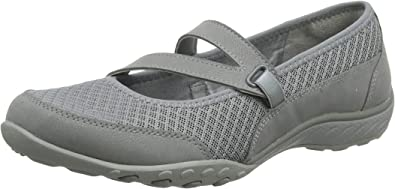 Skechers Damen Breathe Easy Mary Jane Halbschuhe, Grau (Grey MFTqP