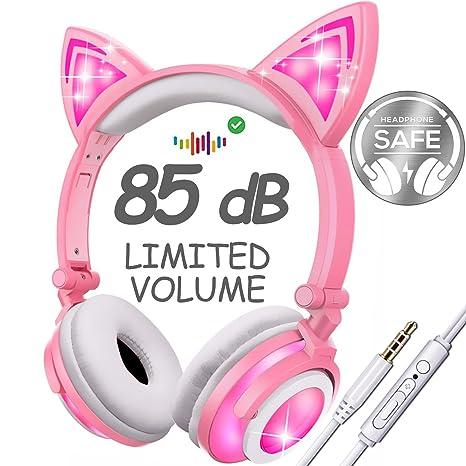 Amazon Com Qiwoo Kids Headphones With 85db Volume Control
