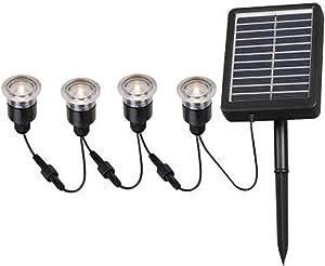 Kenroy Home 2 In. Outdoor Solar String Black Deck Light (4-pack)