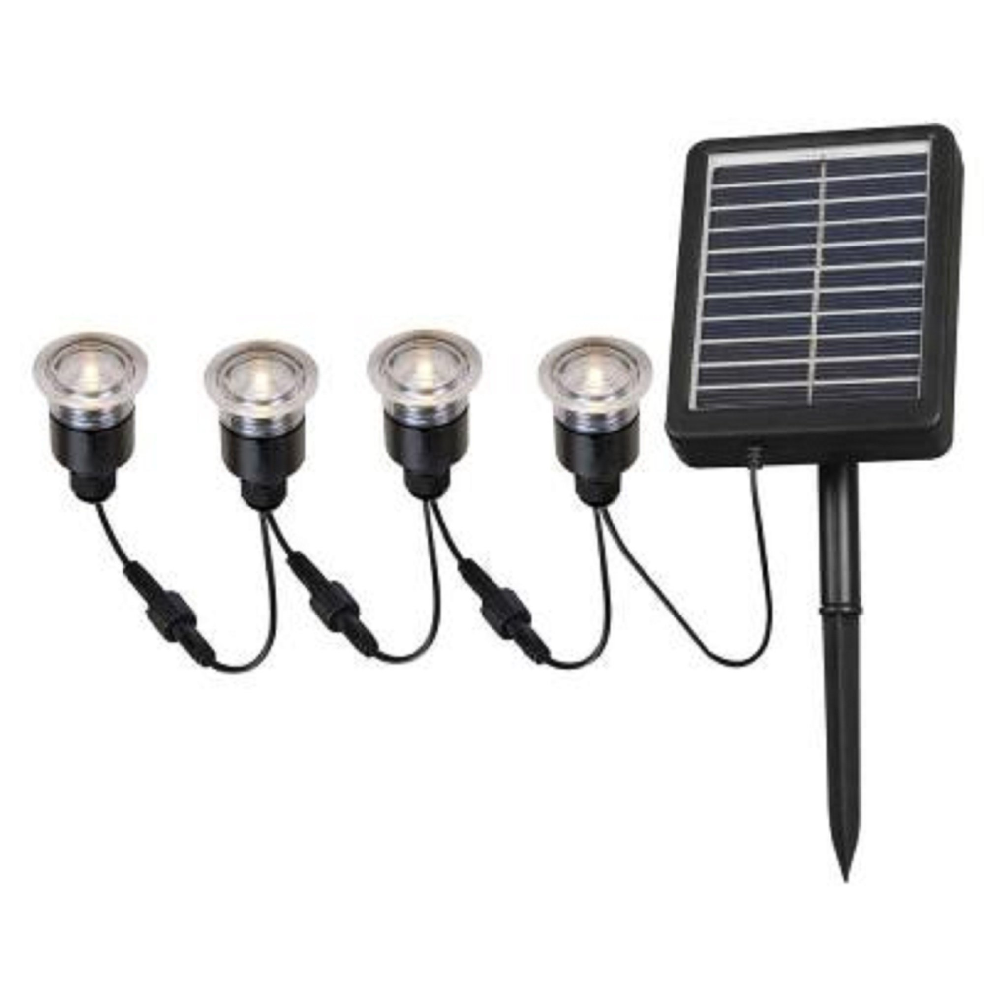 Kenroy Home 2 In. Outdoor Solar String Black Deck Light (4-pack) by Kenroy Home (Image #1)