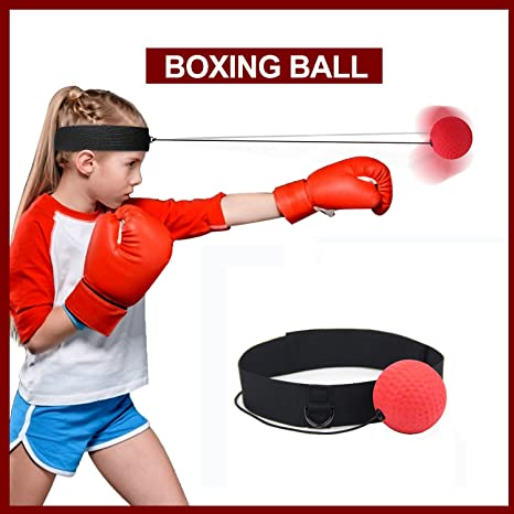 Fight Ball Reflex Boxing Trainer Training Boxer Speed Punch Head Cap String ald