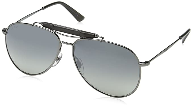 Gucci Gafas de Sol GG 2235/S KJ1 59LG (59 mm) Gris: Amazon ...