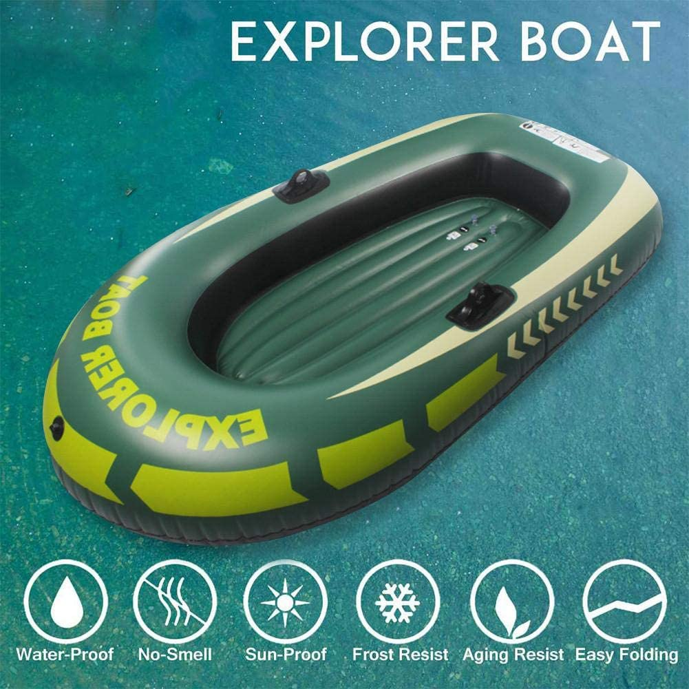 PVC Inflatable Kayak Boat,Inflatable Dinghy Boat Kayak Set Inflatable Kayak Fishing Boat Rafting Water Sports Summer Beach Swimming Pool Float N//Y Kayak Vs Inflatable Boat