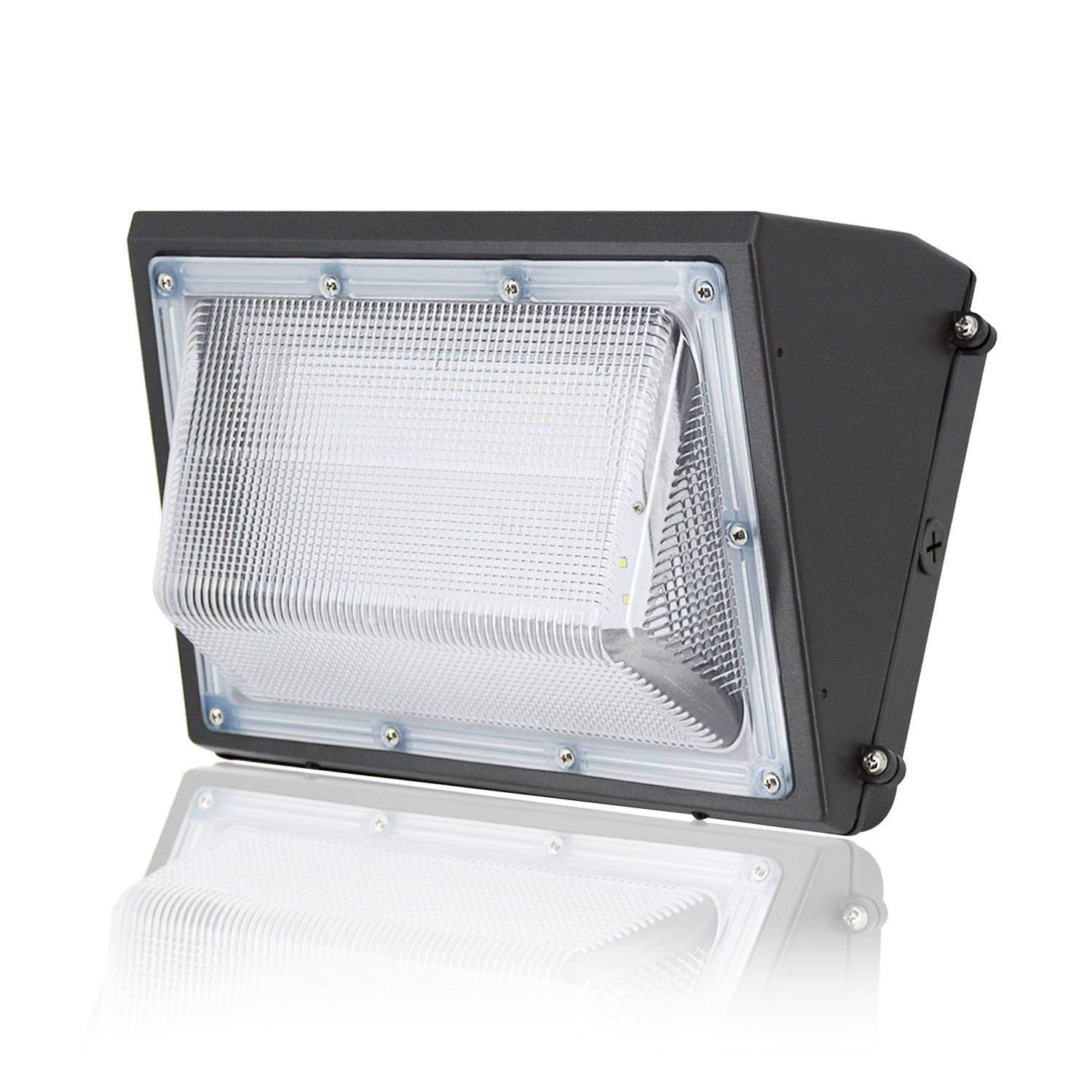 100W LED Wall Pack Light - 5000K Daylight, 12800lm, JESLED Outdoor LED Commerial Lighting Fixture, 400-600 Watt HPS/HID Replacement, AC100-277V, IP65 Waterproof Industrial Residential Security Lights