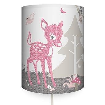 anna wand Wandlampe REHLEIN ROSA/TAUPE – Wandlampenschirm mit ...