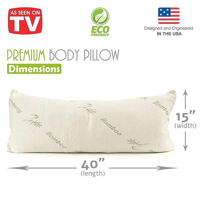 8eb448a7c Premium Bambú cuerpo almohada triturada de espuma con efecto memoria -  embarazo maternidad Almohada 40