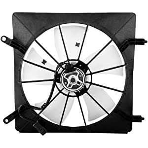 BOXI Driver Side Left Radiator Cooling Fan Assembly For 2003-2011 Honda Element / 2002-2006 Honda CR-V (Replaces 19015PNB003 620-232)