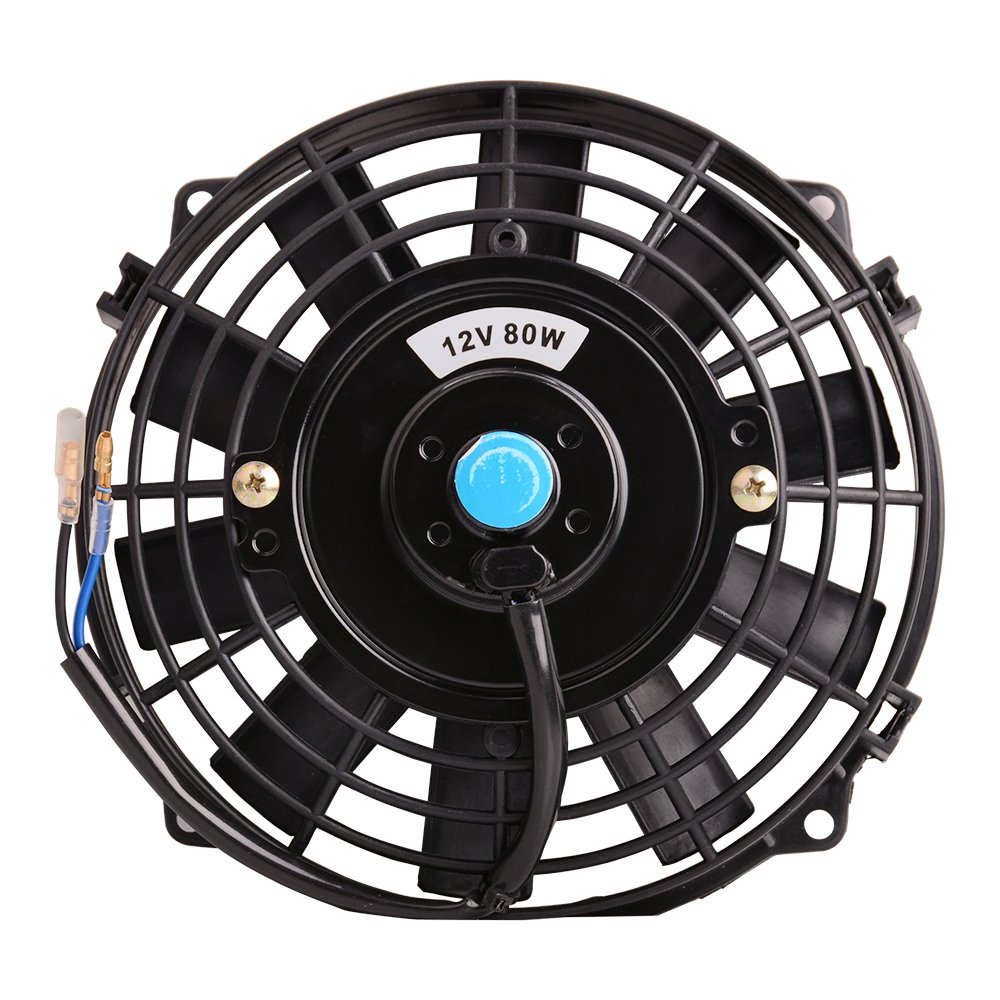 Universal Slim Fan Push Pull Electric Radiator Cooling Testing Car Blower Replacement And Electrical Like A Pro Fans 12v 80w Engine With Mount Kit Diameter 827 Depth 256 Automotive
