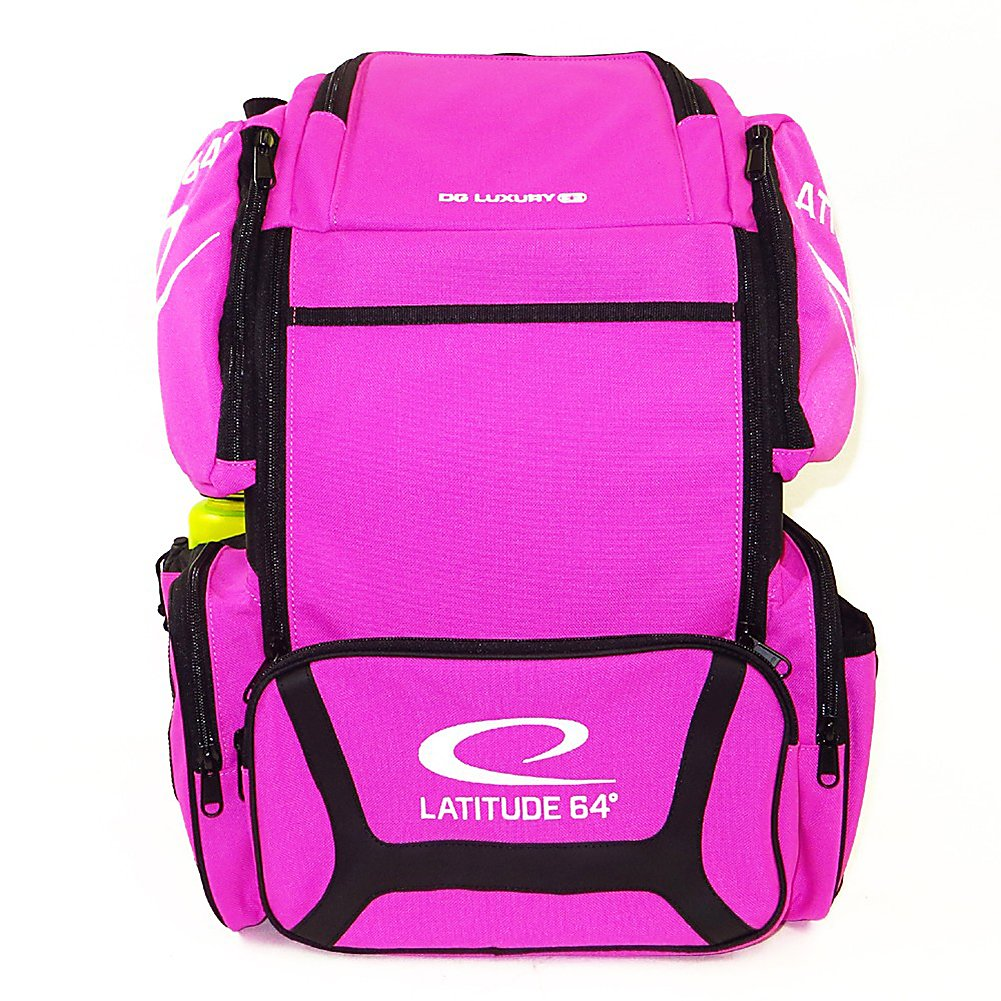 Latitude 64 DG Luxury E3 Backpack Disc Golf Bag (Pink/Black) by Latitude 64