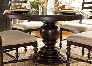 Paula Deen Home Round/Oval Pedestal Dining Table By Paula Deen Home    Tobacco Finish