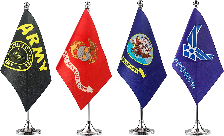 4 Star Military Flag 4 Star Service Mini Banner