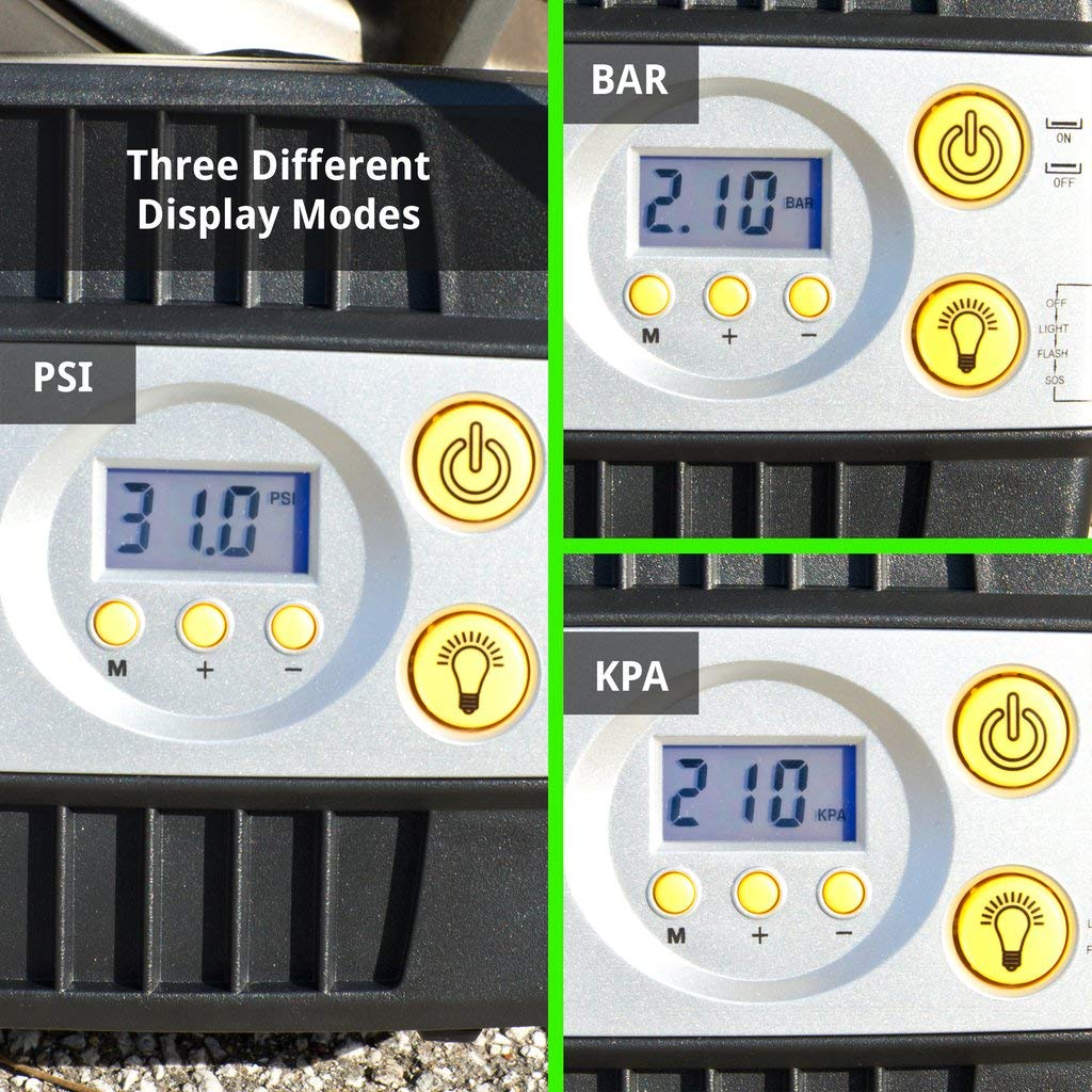 JACO SmartPro Digital Tire Inflator Pump - Premium 12V Portable Air Compressor - 100 PSI by JACO Superior Products (Image #6)