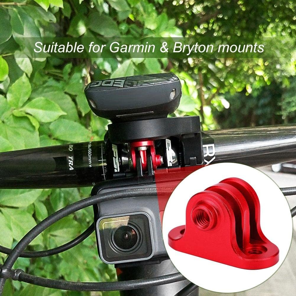 Fine Machining Fashion Sturdy Anti-Rust Bicycle Computer Bracket Camera Adapter Mount Accessory for Bryton mounts with 3 Screws Huairdum Metal Bike Camera Mount