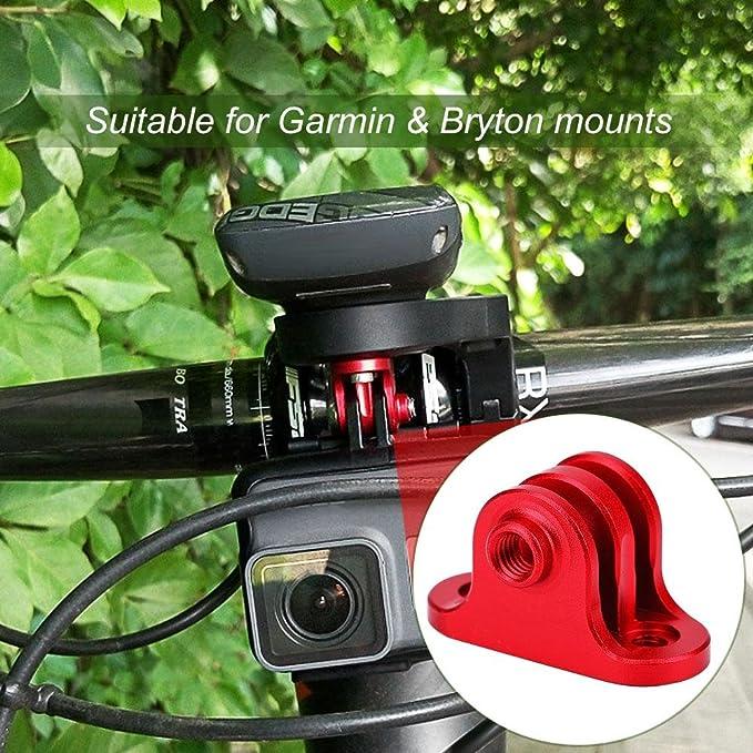 Dioche Bike Kamera Halterung Metall Fahrrad Computer Halterung Kamera Mount Adapter Für Gopro Rot Sport Freizeit