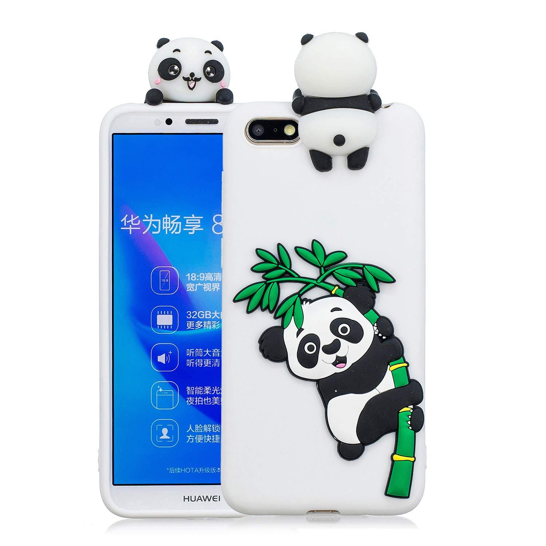 Dunkelblau 1 Everainy Huawei Y5 Prime 2018//Y5 2018 Silikon H/ülle Neu 3D Panda Muster Ultrad/ünn H/üllen Handyh/ülle Gummi Kompatibel f/ür Huawei Y5 2018 Schutzh/ülle Sto/ßfest TPU Gel Sto/ßstange Cover