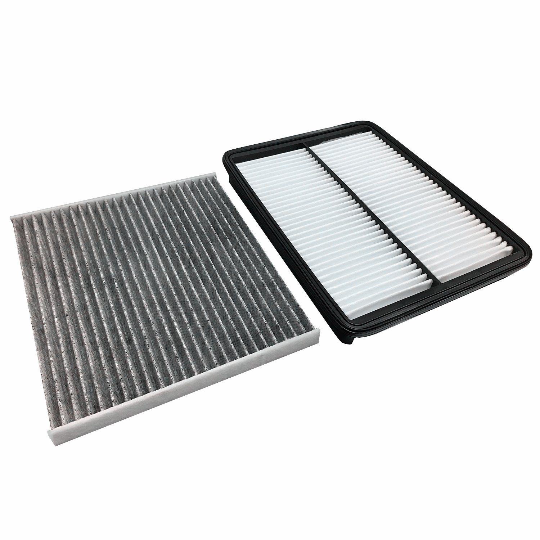 Combo Set Engine Air Filter /& Cabin Air Filter for 2013-2017 Hyundai Santa Fe XL