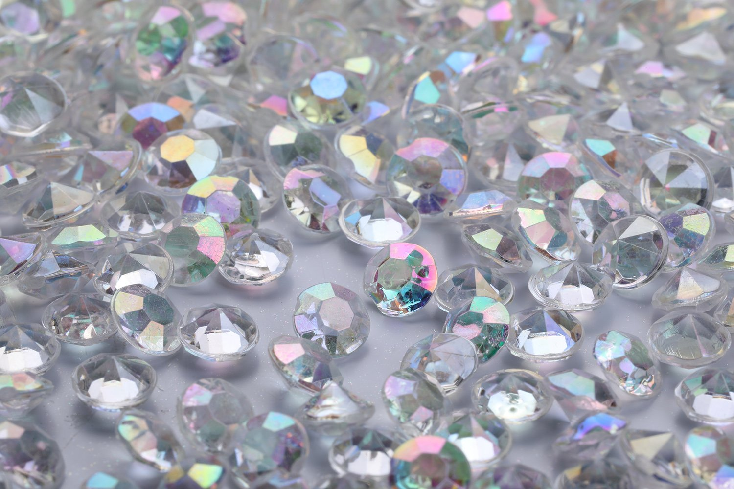 Bridal Shower 10000 pcs//Pack Wedding Table Scatter Confetti Crystals Acrylic Diamonds 4.5 mm Rhinestones for Wedding Vase Beads Decorations AB Clear