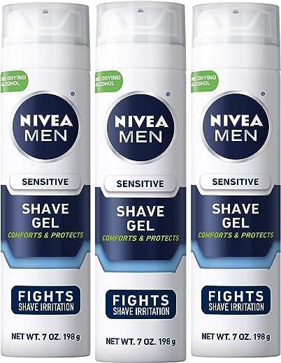 Nivea Men Sensitive Shaving Gel – Protects Sensitive Skin From Shave Irritation – 7 Ounce (Pack of 3)