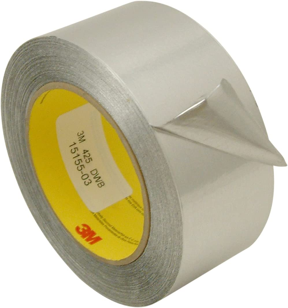,High Temp Heat-Resistant Foiled Tape Rolls for HVAC Repair Dryers Insulation 2-Inch x 60 Yards 50mm x 55m Ducts Jewelry Making /& Crafts Wesy New Multi-Purpose Aluminum Foil Tape Silver