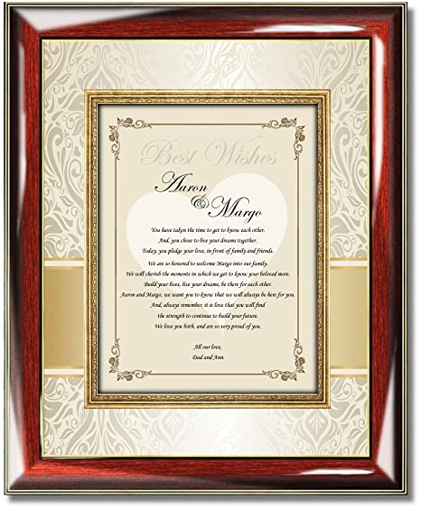 Amazon Wedding Poetry Gift To Bride Or Groom From Parents