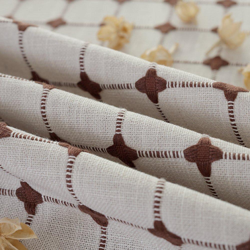 qazwsx Mantel/manteles de algodón y lino/mantel/mantel de grid-D 130x190cm(51x75inch)