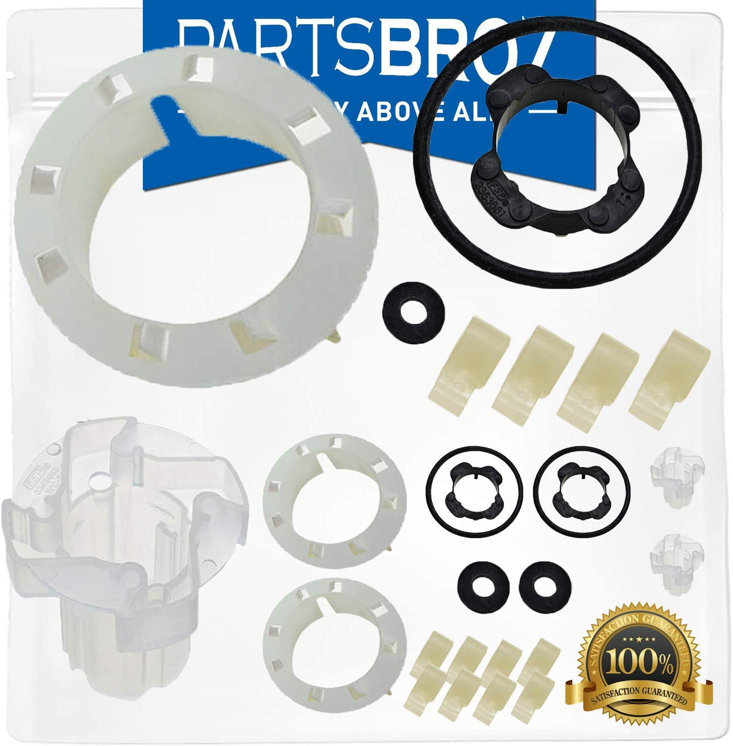 285811 Agitator Repair Kit (2-Pack) by PartsBroz - Compatible with Whirlpool Washers - Replaces AP3138838, 2744, 285746, 285811VP, 3347410, 3351001, 3363663, 3948431, AH334650, EA334650, PS334650