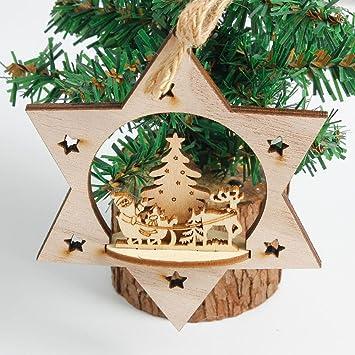 amazon com christmas wood hanging ornament lovewe christmas tree