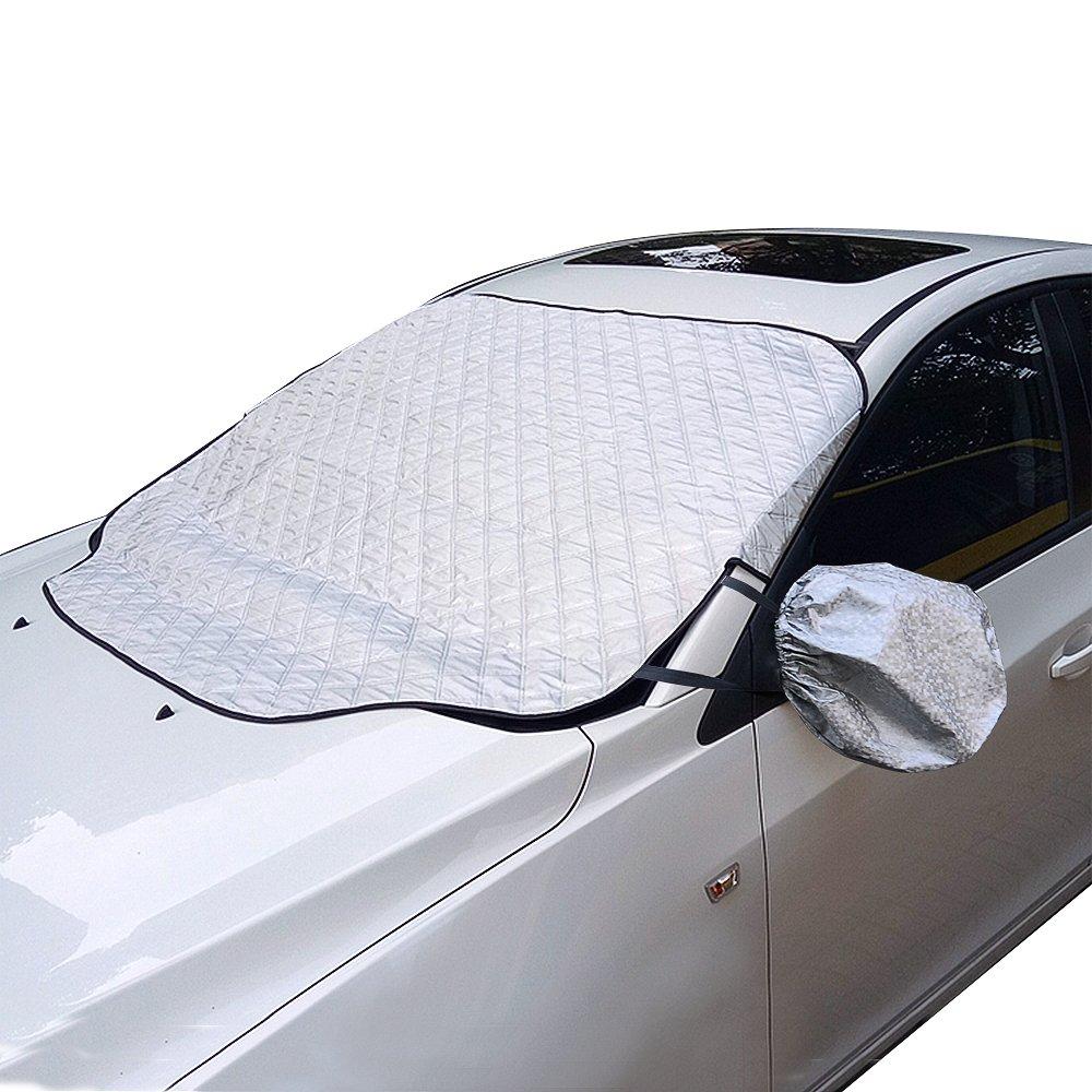 Amazon.es: Hielo Funda para parabrisas limpiaparabrisas y carsun hielo nieve del parabrisas y Frost pantalla en invierno - Durable grueso coche cubierta de ...