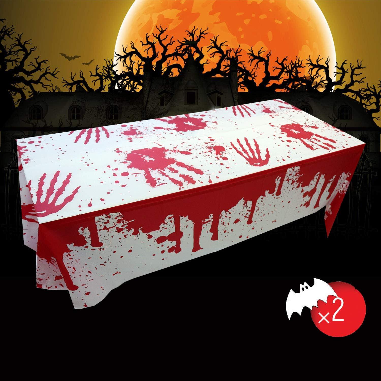 Halloween Nappe Sanglante d/écoration de f/ête dHalloween nappe sanglante 2 Packs Nappe sanglante Halloween