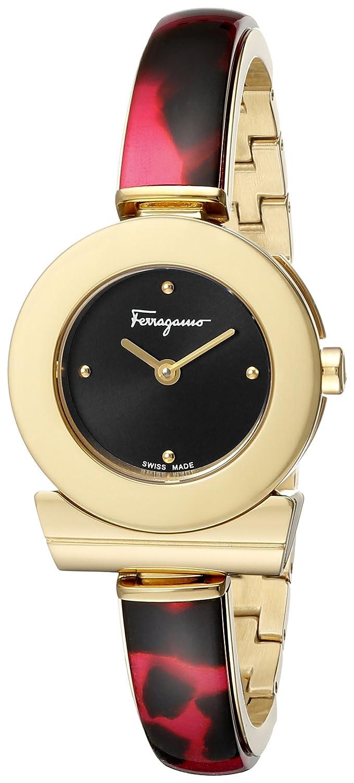 Armbanduhr FERRAGAMO fer34 Bracelet Damen Quarz aus vergoldetem Stahl und Armband pink fii030015