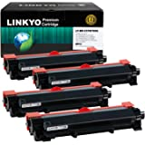 LINKYO Compatible Toner Cartridge Replacement for Brother TN760 TN730 TN-760 (4-Pack, High Yield, Design V3)