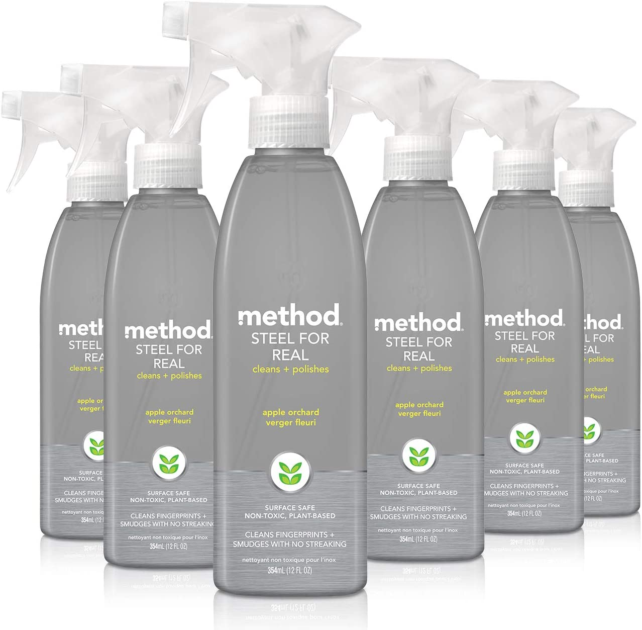 Method Stainless Steel Cleaner, Apple Orchard, 12 Ounce (Pack 6)