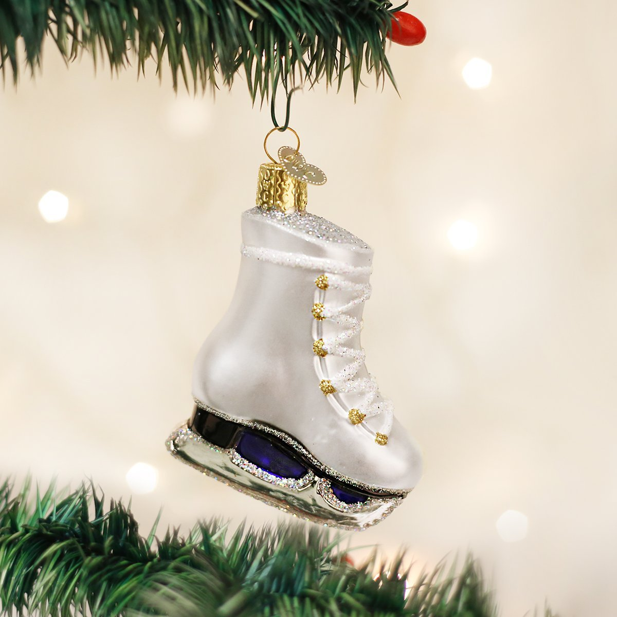 Amazon.com: Old World Christmas Ice Skate Glass Blown Ornament: Home ...