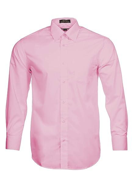 Alberto Danelli Men s Solid Long Sleeve Dress Shirt Sky Blue at ... 5f6cc632c9e1
