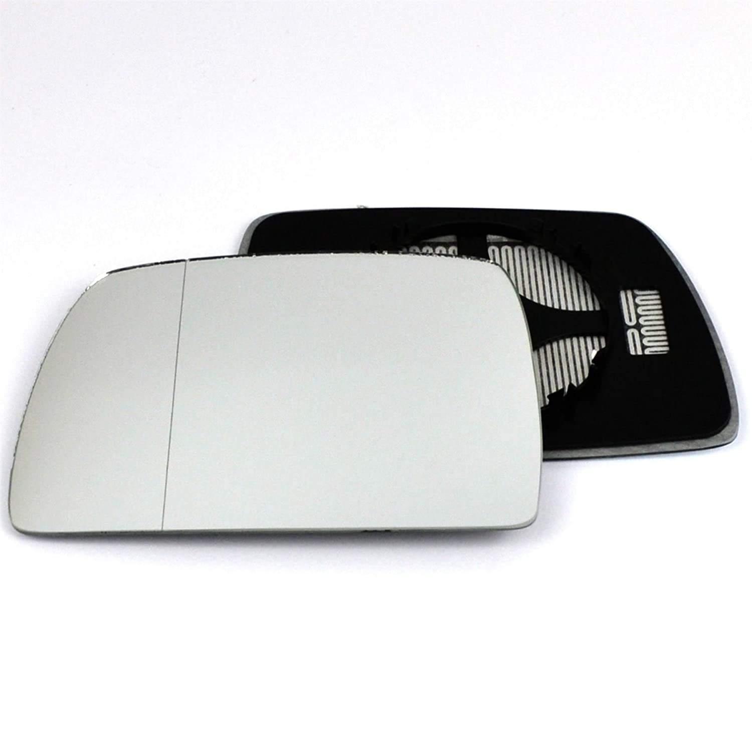 Clip On Passenger left hand side Heated wing door Silver mirror glass with backing plate #W-SHY//L-BWE8304