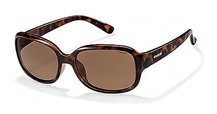 Marca Polaroid P8421B polarizados mujeres s Rectangular gafas de sol Tortoise Shell marco marrón