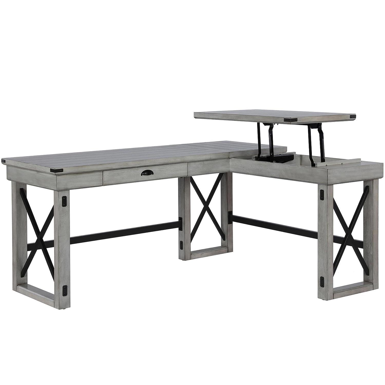 size 40 7a2bc 78dd8 Ameriwood Home 9552296COM Wildwood L Shaped Desk, Rustic ...