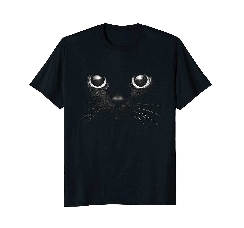 3D Black Cat Face Graphic Design T-Shirt Gift For Cat Lovers-AZP