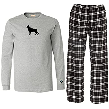 Amazon.com: German Shepherd Mens Flannel Pajamas.: Clothing