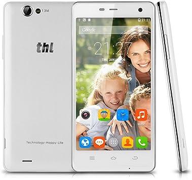 THL NewTec24 5000 Octa Core Android 4.4 3 G Smartphone 2.0 GHz Dual SIM 5 Pulgadas FHD, sin Contrato MTK6592T gsm/WCDMA 2 GB + 16GB WiFi Bluetooth NFC OTG: Amazon.es: Electrónica