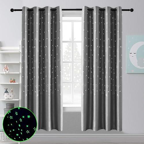 Hughapy Glow Window Curtain Panel